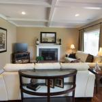 Living Room with Hand Crafted Coffered Ceiling - AFTER